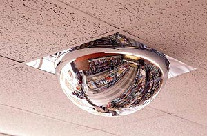 Domed Mirror for 360 degree reflective view